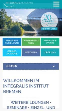 Vorschau der mobilen Webseite www.integralis-bremen.de, Institut Integralis Mitte