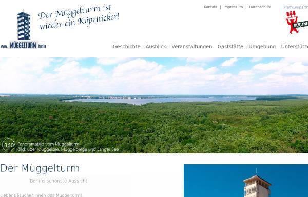Vorschau von www.müggelturm.berlin, Der Müggelturm
