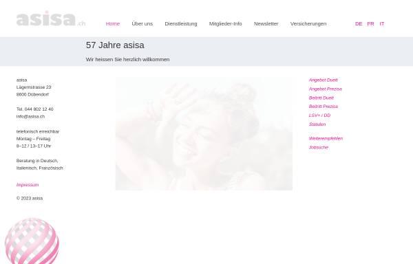 Vorschau von www.asisa.ch, ASISA Allgemeine Schweizerische Interessengemeinschaft für Schweizer und Ausländer