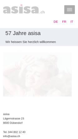 Vorschau der mobilen Webseite www.asisa.ch, ASISA Allgemeine Schweizerische Interessengemeinschaft für Schweizer und Ausländer