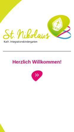 Vorschau der mobilen Webseite www.kinder-st-nikolaus.de, Katholischer Integrationskindergarten St. Nikolaus Rosenheim