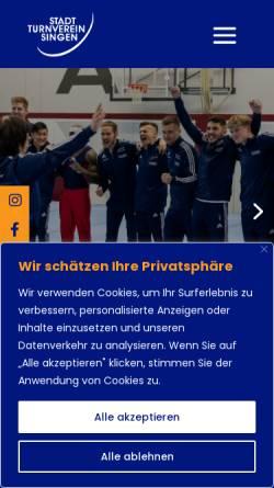 Vorschau der mobilen Webseite www.sttv-singen.de, Stadt-Turnverein 1883 e.V.