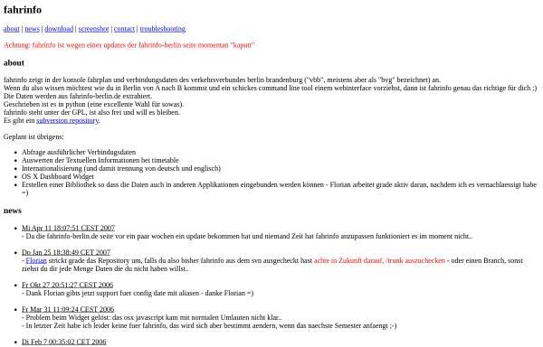 Vorschau von ludwig.spline.de, Fahrinfo