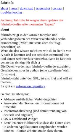 Vorschau der mobilen Webseite ludwig.spline.de, Fahrinfo