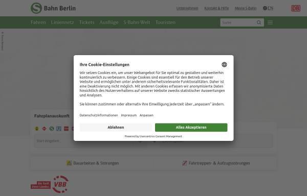 Vorschau von www.s-bahn-berlin.de, S-Bahn Berlin GmbH