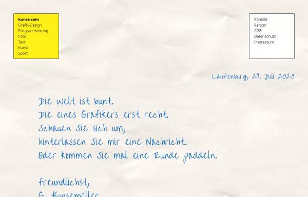 Vorschau von kunse.com, Gerhard Kunsemüller - Grafiker SfG