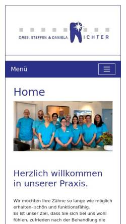 Vorschau der mobilen Webseite www.dr-richter-magdeburg.de, Dres. Richter