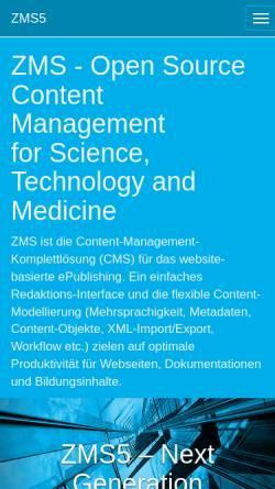 Vorschau der mobilen Webseite www.zms-publishing.com, ZMS