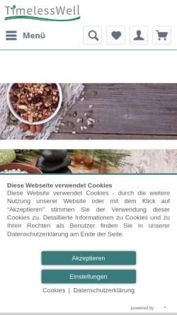 Vorschau der mobilen Webseite www.timeless-well.de, TimelessWell, Heidrun Schwörer