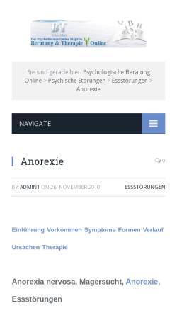 Vorschau der mobilen Webseite www.btonline.de, BTonline: Beratung und Therapie Online