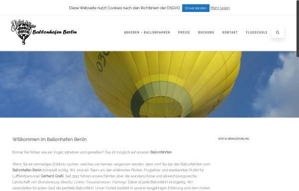 Vorschau von www.ballonhafen-berlin.de, Ballonhafen Berlin