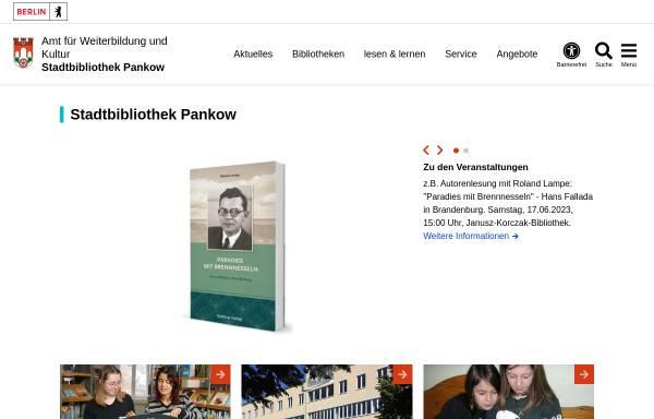 Vorschau von www.berlin.de, Stadtbibliotheken im Bezirk Pankow