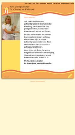 Vorschau der mobilen Webseite www.zahnarzt-grossenwiehe.de, Dr. Christina von Wedelstaedt