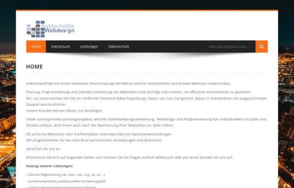 Vorschau von www.a-wd.de, Aufderheide Webdesign