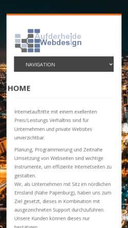 Vorschau der mobilen Webseite www.a-wd.de, Aufderheide Webdesign