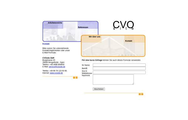 Vorschau von www.cvosite.de, CVOsite GbR