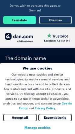Vorschau der mobilen Webseite www.cyvisions.com, CyVisions Jay Allan Jethwa