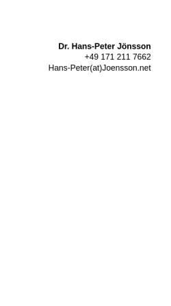 Vorschau der mobilen Webseite joensson.net, Joensson.net Internet-Service