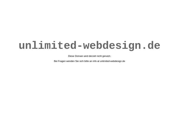 Vorschau von www.unlimited-webdesign.de, Unlimited Webdesign
