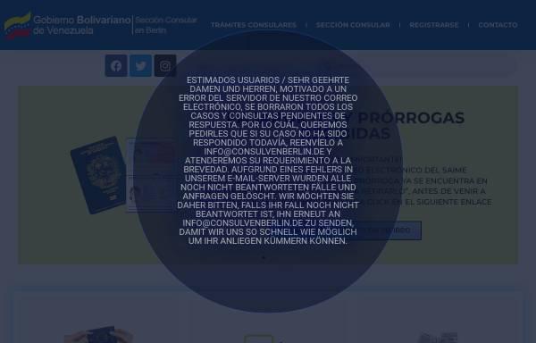 Vorschau von www.botschaft-venezuela.de, Venezuela