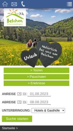 Vorschau der mobilen Webseite www.wandern-schwarzwald.de, Todtnauer Ferienland