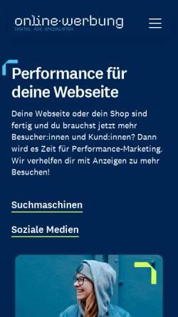 Vorschau der mobilen Webseite www.online-werbung.de, Service & media online-werbung GmbH