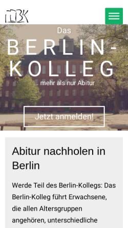 Vorschau der mobilen Webseite www.berlin-kolleg.de, Berlin Kolleg
