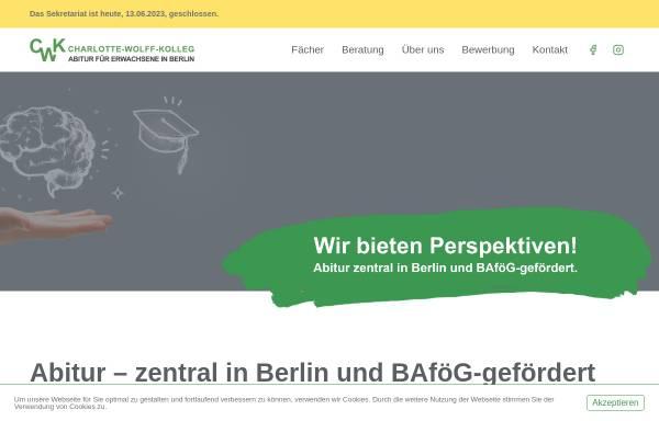 Vorschau von www.charlotte-wolff-kolleg.de, Charlotte-Wolff-Kolleg