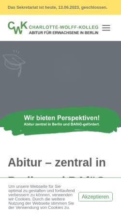 Vorschau der mobilen Webseite www.charlotte-wolff-kolleg.de, Charlotte-Wolff-Kolleg
