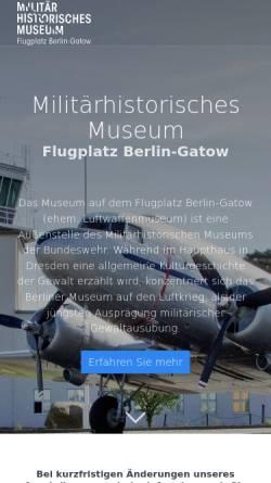 Vorschau der mobilen Webseite www.luftwaffenmuseum.de, Luftwaffenmuseum