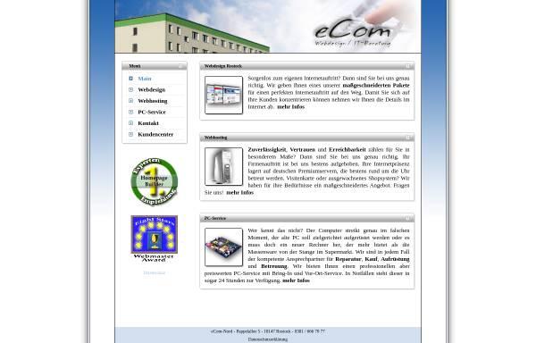 Vorschau von www.ecom-nord.de, eCom-Nord