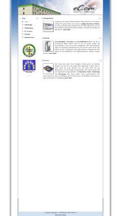 Vorschau der mobilen Webseite www.ecom-nord.de, eCom-Nord