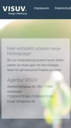 Vorschau der mobilen Webseite www.visuv.de, Visuv