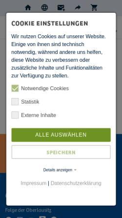 Vorschau der mobilen Webseite www.oberlausitz.com, Wandern in der Oberlausitz