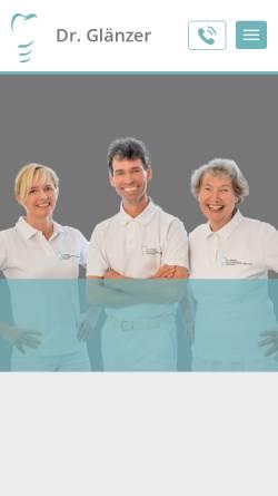 Vorschau der mobilen Webseite www.titanzahn.de, Dr. Glänzer & Partner