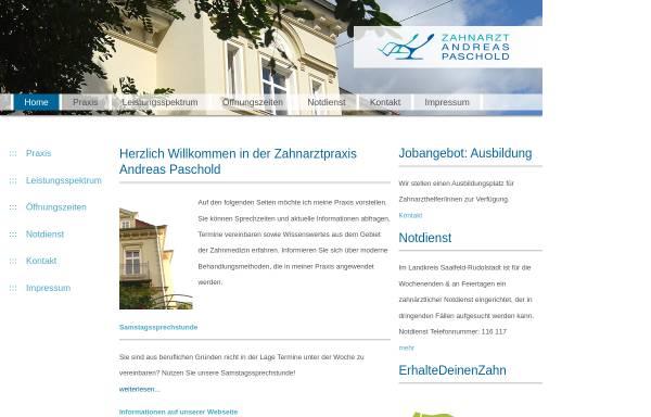 Vorschau von www.za-paschold.de, Dr. med. dent. Christiane Paschold und Zahnarzt Andreas Paschold