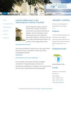 Vorschau der mobilen Webseite www.za-paschold.de, Dr. med. dent. Christiane Paschold und Zahnarzt Andreas Paschold