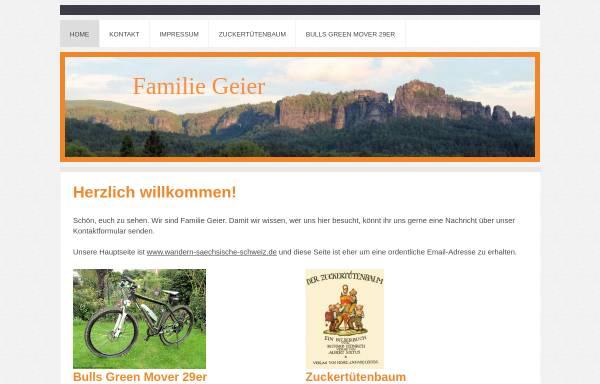 Vorschau von www.geier-familie.de, Wandern in der Sächsischen Schweiz