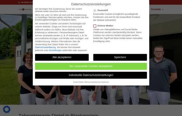 Vorschau von www.zahnarztpraxis-dietel.de, Zahnarztpraxis Dietel