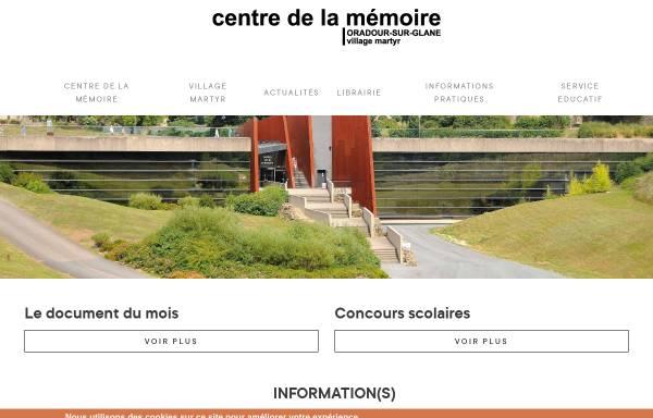Vorschau von www.oradour.org, Gedenkstätte Oradour-sur-Glane