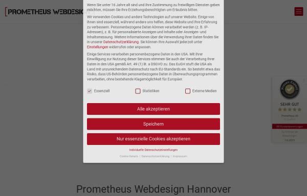 Vorschau von prometheus-webdesign-hannover.de, Prometheus Webdesign® Hannover