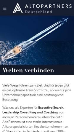 Vorschau der mobilen Webseite altopartners.de, Becker Management Consulting GmbH