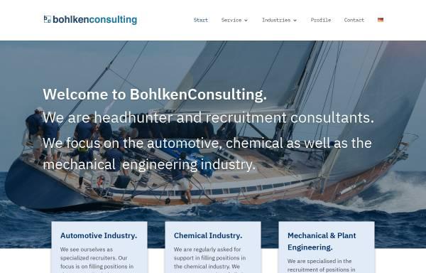 Vorschau von www.bohlkenconsulting.de, Bohlken Consulting