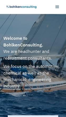 Vorschau der mobilen Webseite www.bohlkenconsulting.de, Bohlken Consulting