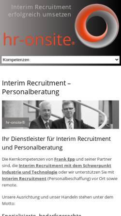 Vorschau der mobilen Webseite www.frank-epp.de, Frank Epp