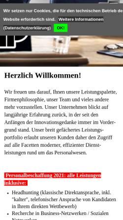 Vorschau der mobilen Webseite www.wkpgmbh.de, WKP Guddorf Personalberatung GmbH