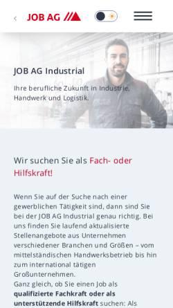 Vorschau der mobilen Webseite www.job-ag.com, Job AG