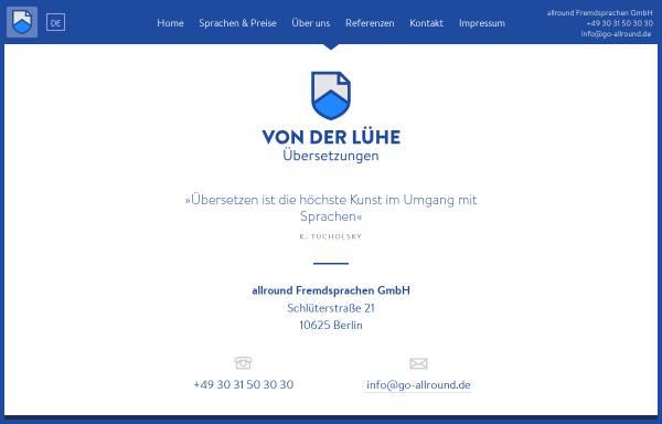 Vorschau von www.go-allround.de, Allround Fremdsprachen GmbH