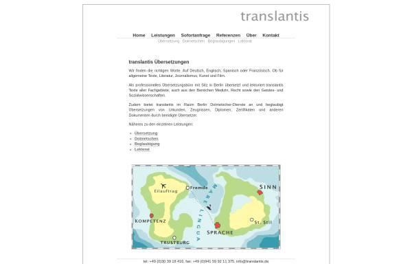 Vorschau von translantis.de, Translantis