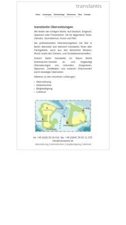 Vorschau der mobilen Webseite translantis.de, Translantis